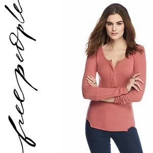 Free People Meg's Layering Long Sleeve Henley